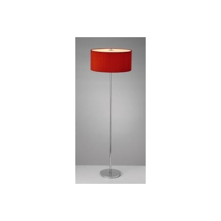 ... Dar ZAR4925 Zaragoza 3 Light Red Floor Lamp Polished Chrome. U2039