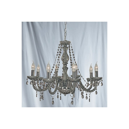 Grey Chandelier Wall Lights : Searchlight 8698-8GY Marie Therese 8 Light Smoked Grey Chandelier