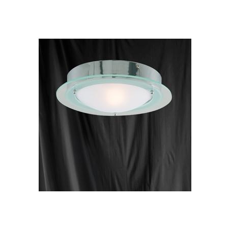 Searchlight 3108CC Bathroom Lights 1 Light Flush Ceiling Polished Chrome