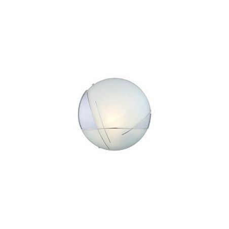 Eglo 89758 Raya 1 light modern flush wall/ceiling light silver/chrome finish with glass shade ...