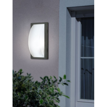 Eglo 87184 park5 1 light modern outdoor wall light anthracite eglo 87184 park5 1 light modern outdoor wall light anthracite finish ip44 rated mozeypictures Gallery