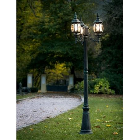 Eglo 4171 outdoor classic 3 light outdoor floor lamppost lamp black eglo 4171 outdoor classic 3 light outdoor floor lamppost lamp blackgreen finish mozeypictures Gallery