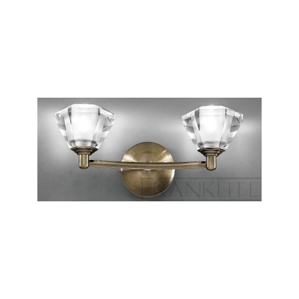 Franklite Crystal Wall Lights : Franklite Twista Lights Twista Antique Brass Wall Light