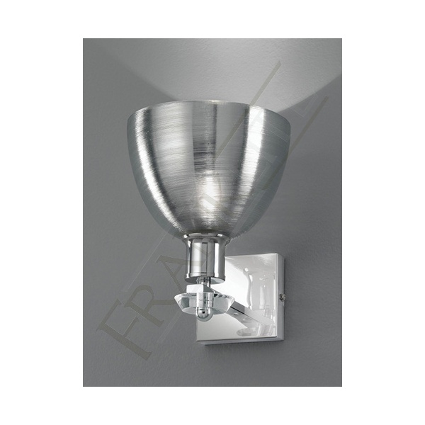 Matte Silver Wall Lights : FL2318/1/927 Silver Wall Light Franklite Vetross Wall Light