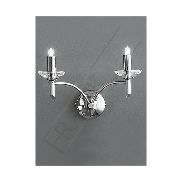 Franklite Crystal Wall Lights : PE9852 Rhapsody Crystal 5 Light Wall Light Chrome Wall Lighting