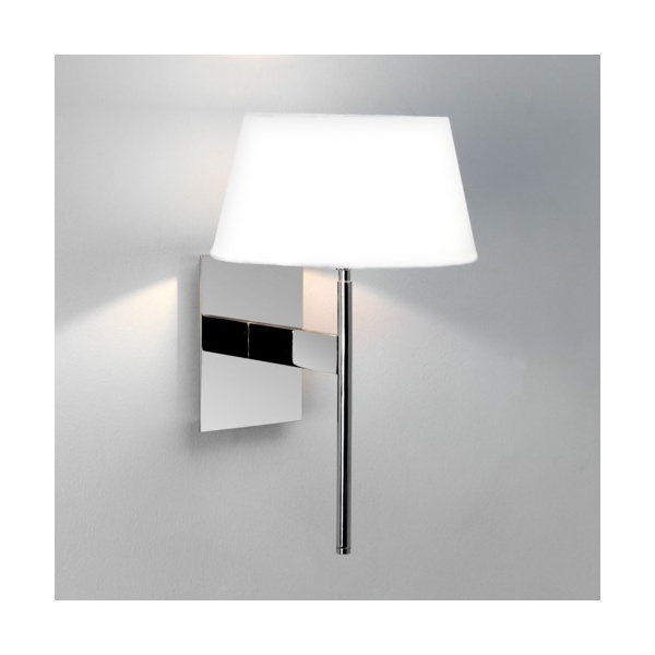 Chrome Wall Light With White Shade : Astro 0580 San Marino Wall Light Chrome with White Shade