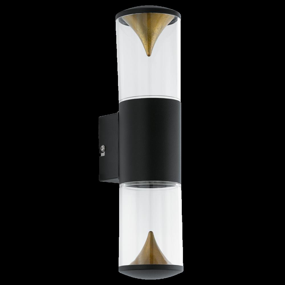 Eglo 94818 Penalva1 2 Light LED IP44 Wall Black Stainless Steel