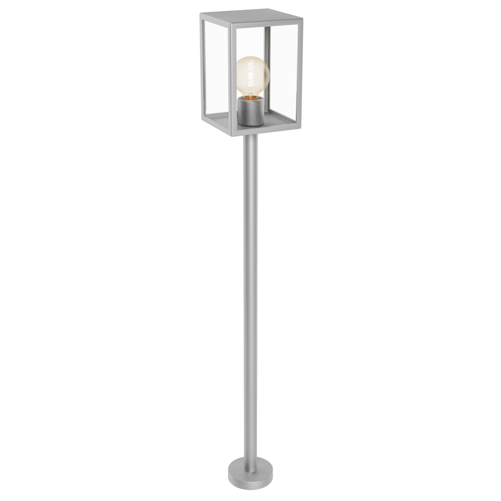 This light post lamp is made of stainless steel