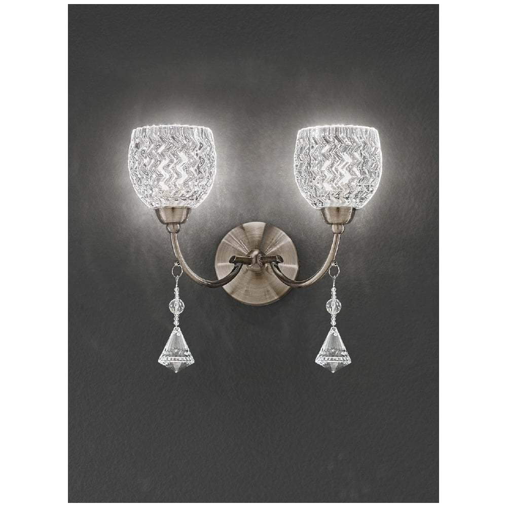 Franklite Crystal Wall Lights : Franklite Sherrie Wall Light FL2293/2 Crystal Wall Light
