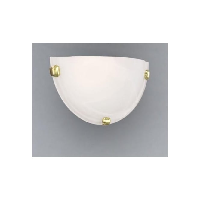 Eglo 7187 Salome 1 light traditional wall light alabaster glass brass coated finish