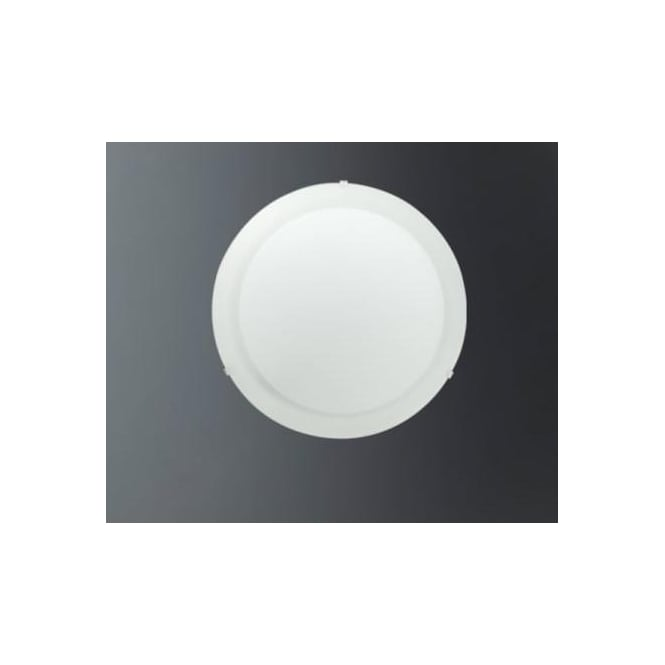 Eglo 86081 Albedo 1 light flush ceiling light frosted satin glass