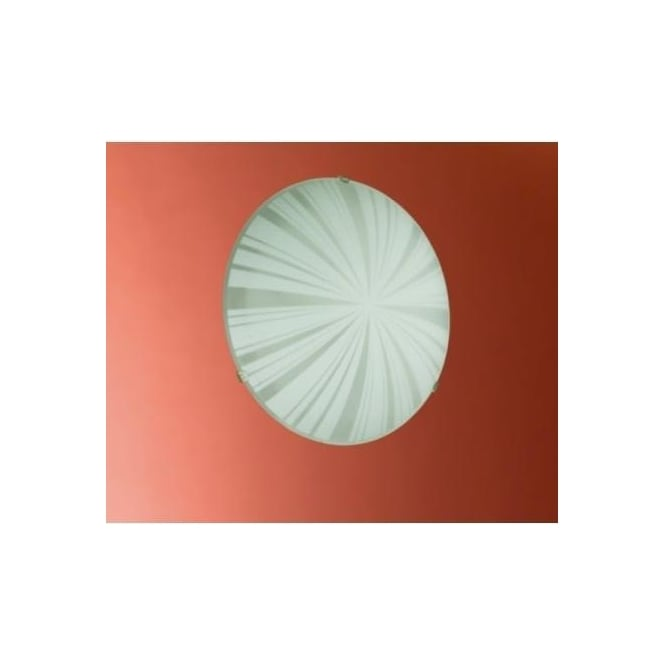 Eglo 89239 Mars1 1 light traditional flush wall/ceiling light circular satin glass rays decoration