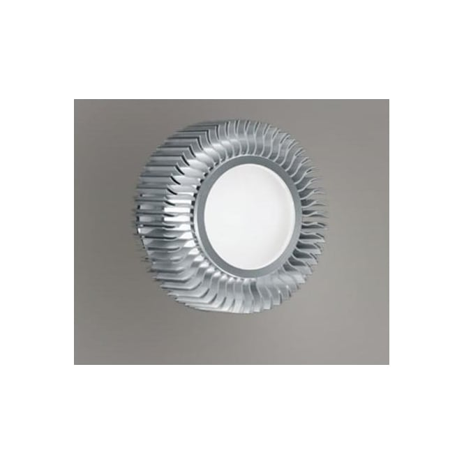 Eglo 89119 Chiron 1 light modern downlight circular fan effect white satin glass aluminium finish