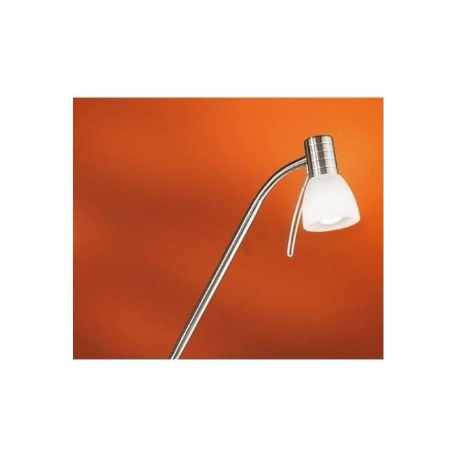 Eglo 86431 Prince1 1 light modern spotlight floor lamp adjustable with alabaster glass nickel matt finish