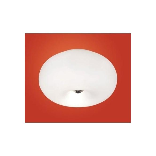 Eglo 86811 Optica 2 light modern Wall/Ceiling Light opal and nickle matt finish