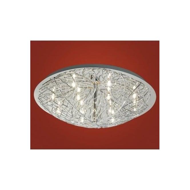 Eglo 90148 Cromer 12 light modern flush ceiling light chrome finish