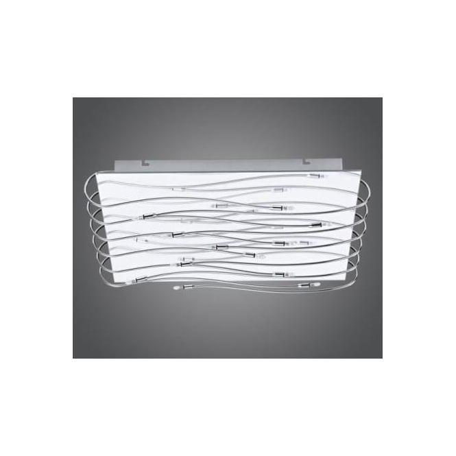 Eglo 90477 Metis 12 light modern flush ceiling light chrome finish with mirrored effect