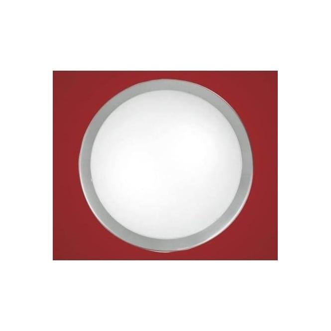 Eglo 82941 Planet 2 light modern wall/ceiling light nickel matt finish with a satinated glass shade