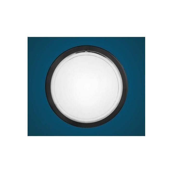 Eglo 83159 Planet 1 1 light modern wall/ceiling light black finish with a satinated glass shade