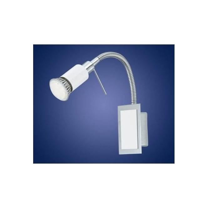 Eglo 90832 Eridan 1 light LED wall spotlight chrome finish adjustable