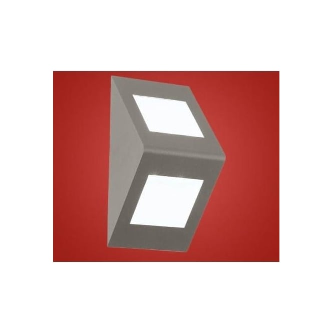 Eglo 91096 Morino LED cast aluminium outdoor wall light silver and white finish IP44 rated