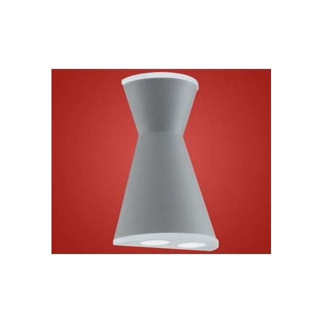 Eglo 91101 Morino LED cast aluminium outdoor wall light silver and white finish IP44 rated