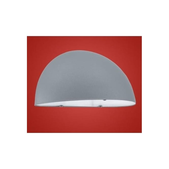 Eglo 90866 Lepus 1 light modern outdoor wall light silver and white finish IP23 rated