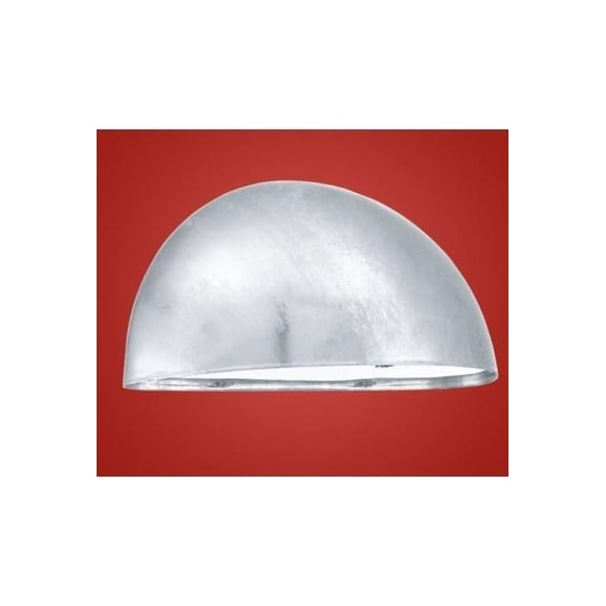 Eglo 90867 Lepus 1 light modern outdoor wall light galvanised steel and white finish IP23 rated