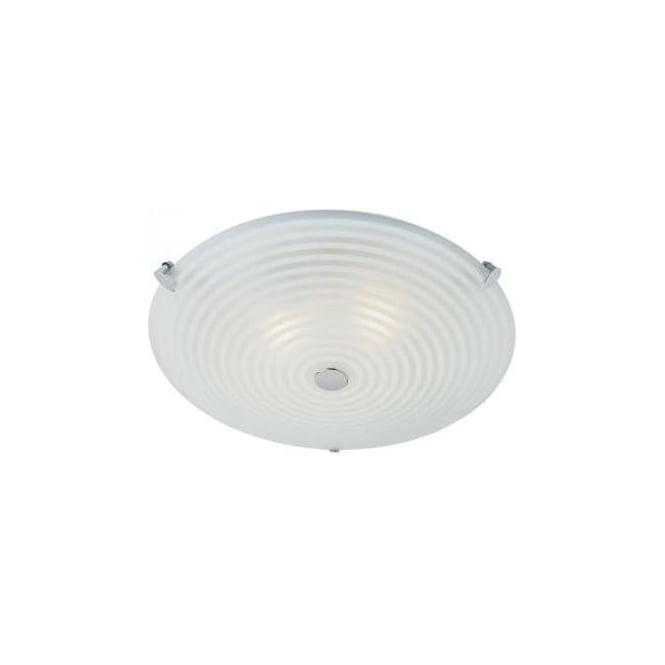 Endon 633-32 2 Light Modern Flush Ceiling Light Glass Shade