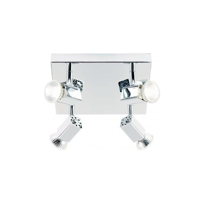 Endon EL-10047 4 Light Modern Ceiling Spotlight Polished Chrome (Adjustable Heads)