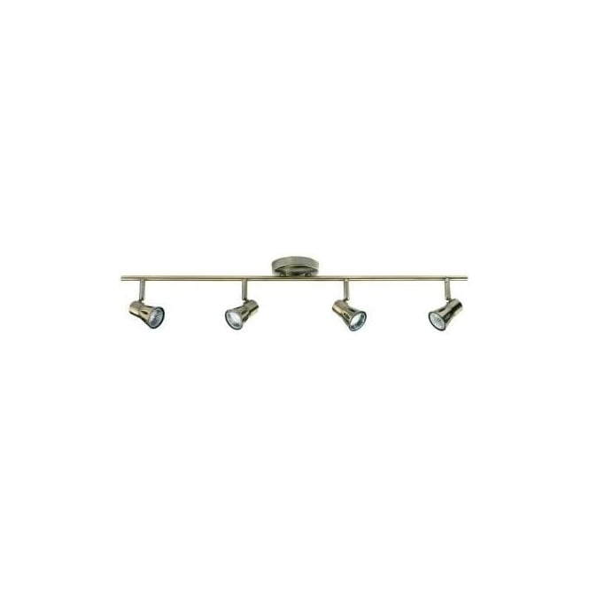Endon 814-AN  4 Light Ceiling Spotlight Antique Brass