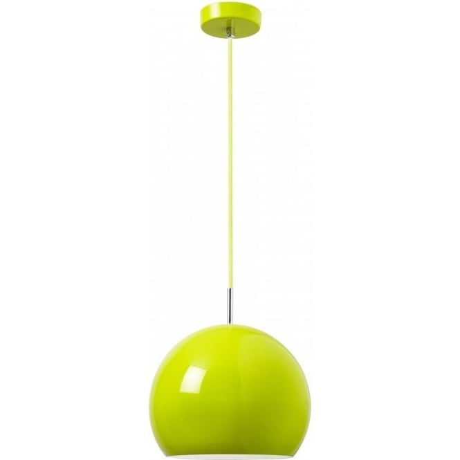 Endon ALZIRA-GR Alzira 1 Light Ceiling Pendant Green