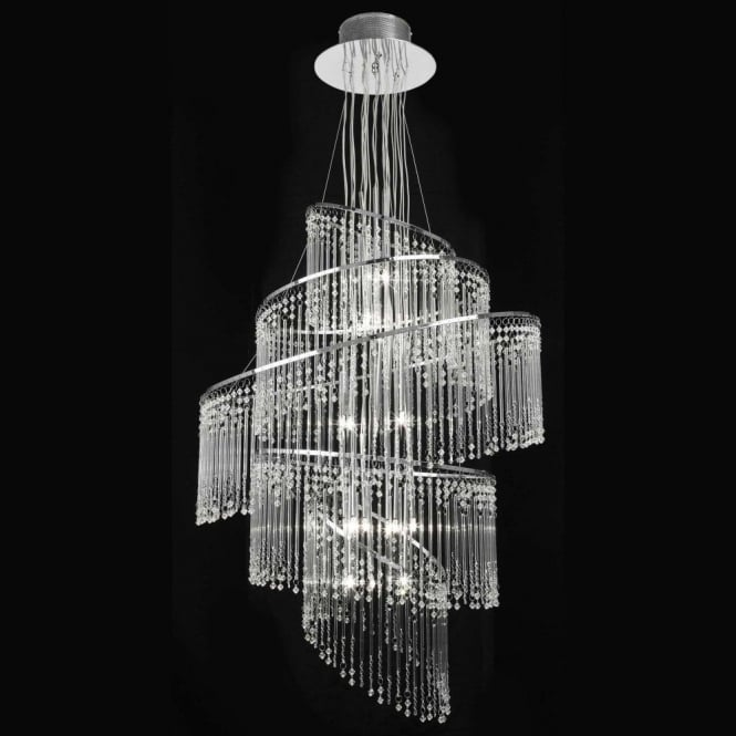 Endon CAMILLE-24CH Camille 24 Light Glass Chandelier Chrome