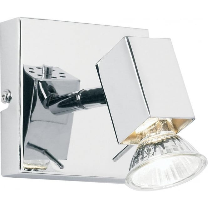 Endon EL-10049 1 light modern wall spotlight polished chrome finish (adjustable head)