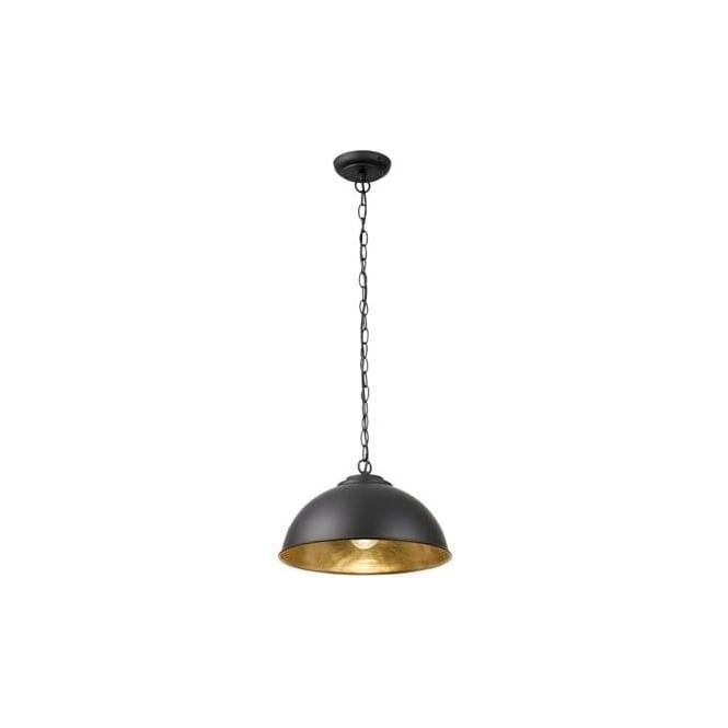 Endon COLMAN-BL Colman 1 Light Ceiling Light Black