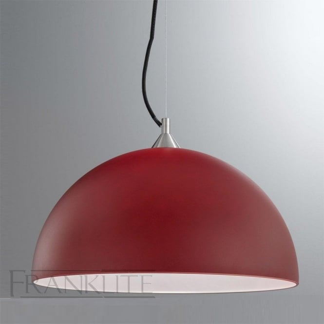 Franklite FL2291/1/935 Vetross 1 Light Ceiling Pendant Red/White