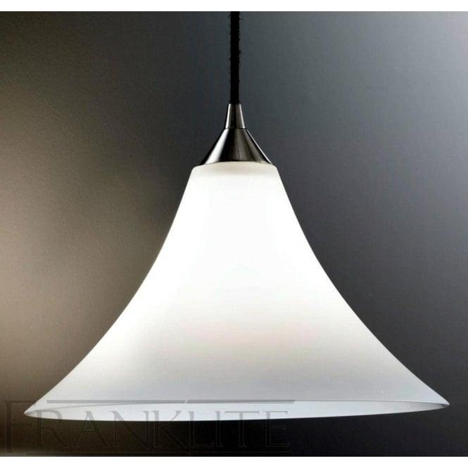 Franklite FL2290/1/921 Vetross 1 Light Ceiling Pendant Satin White