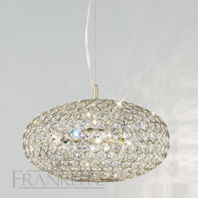 Franklite FL2274/6 Marquesa 6 Light Crystal Ceiling Pendant Bronze