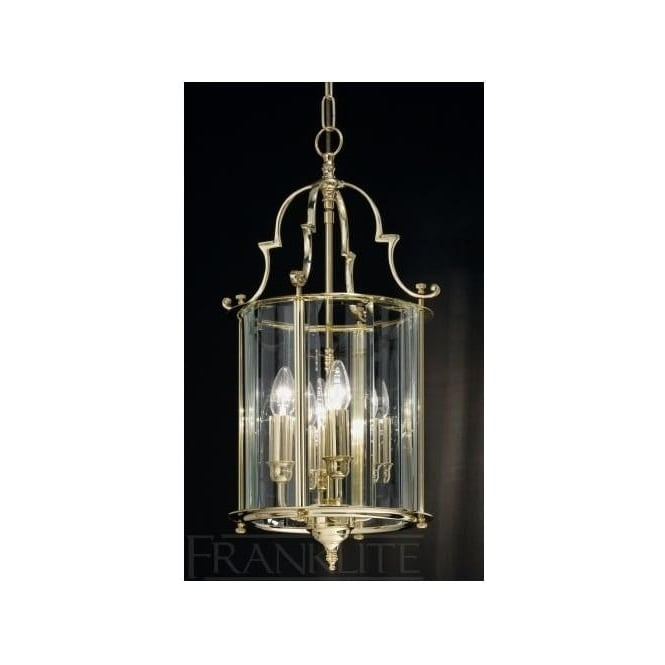 Franklite LA7009/4 Montagu 4 Light Ceiling Lantern Polished Brass