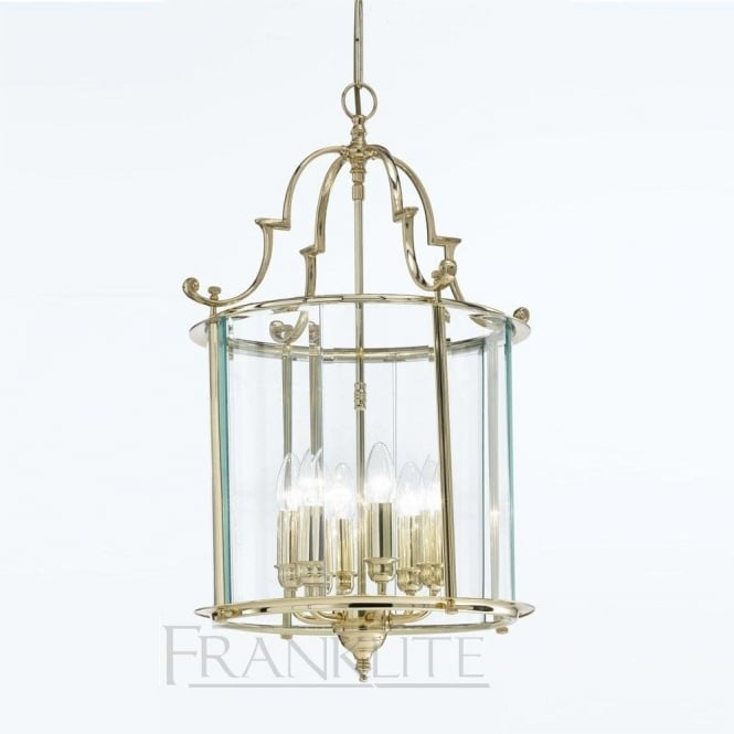 Franklite LA7009/6 Montagu 6 Light Ceiling Lantern Polished Brass