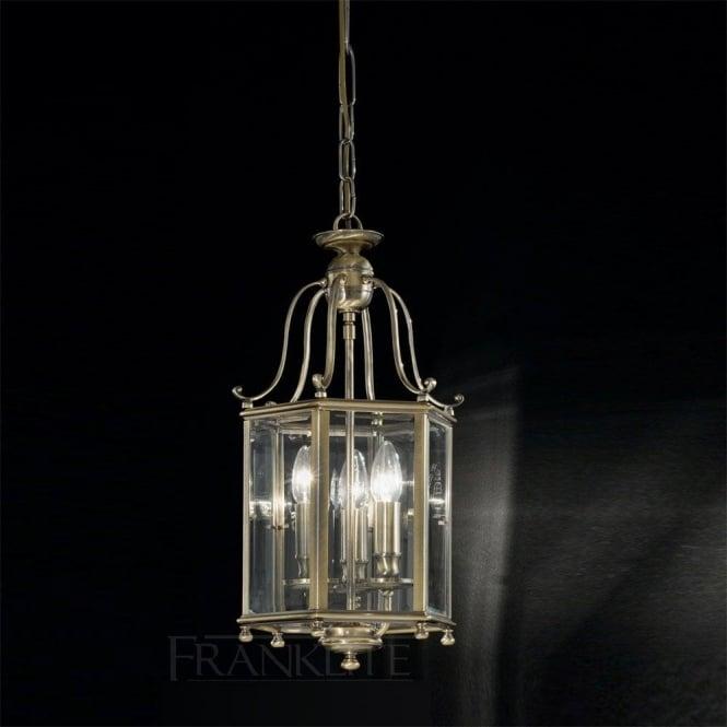 Franklite LA7007/3 Montpelier 3 Light Ceiling Lantern Bronze