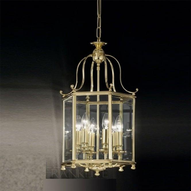 Franklite LA7006/6 Montpelier 6 Light Ceiling Lantern Polished Brass