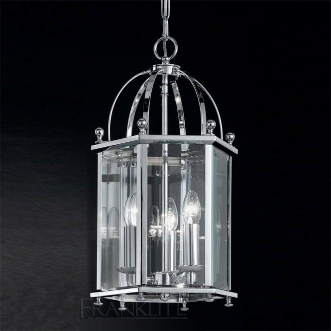 Franklite LA7008/3 Madison 3 Light Ceiling Lantern Polished Chrome