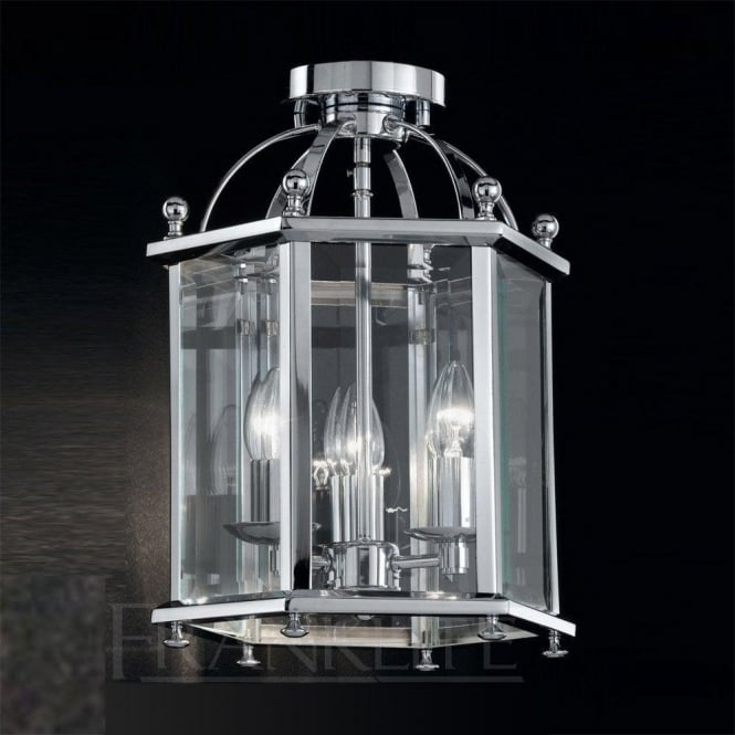 Franklite LA7013/3 Madison 3 Light Ceiling Lantern Polished Chrome