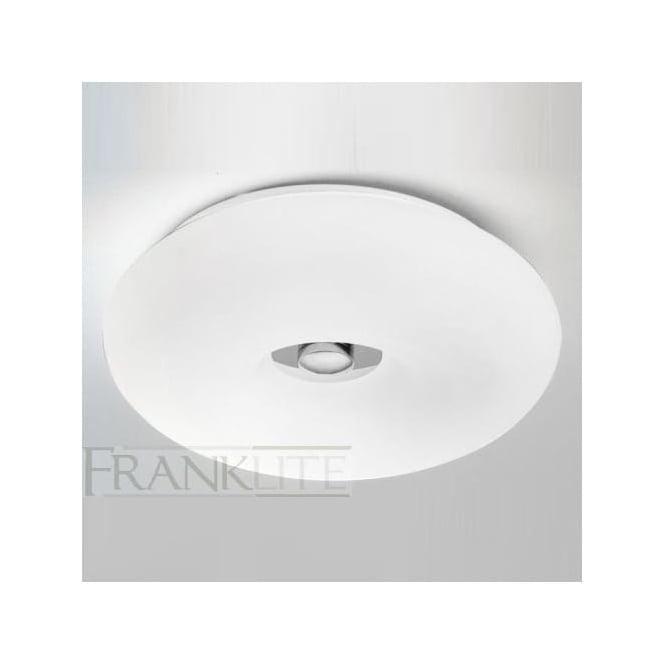 Franklite CF5710 3 Light Flush Ceiling Light Chrome