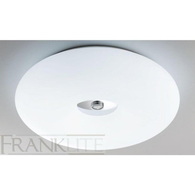 Franklite CF5711 4 Light Flush Ceiling Light Chrome