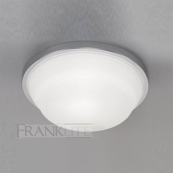 Franklite CF5704 1 Light Flush Ceiling Light Chrome