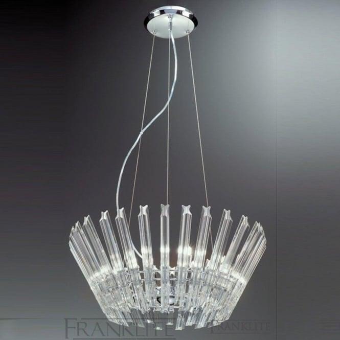 Franklite FL2231/9 Imagine 9 Light Crystal Ceiling Pendant Polished Chrome