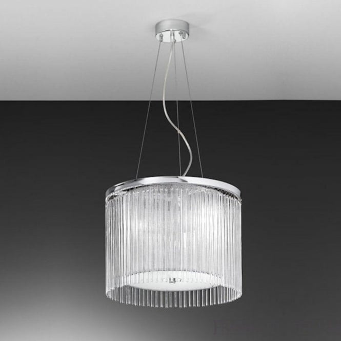 Franklite FL2191/3 Eros 3 Light Ceiling Pendant Polished Chrome