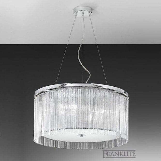 Franklite FL2191/4 Eros 4 Light Ceiling Pendant Polished Chrome